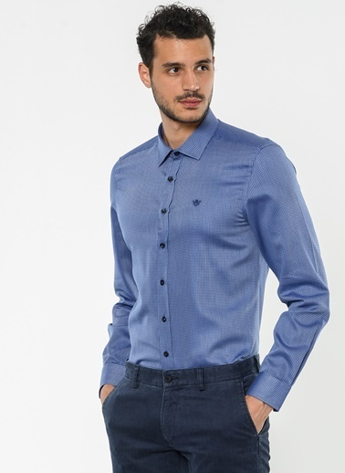 Beymen Business Slim Fit Ekose Gömlek Lacivert